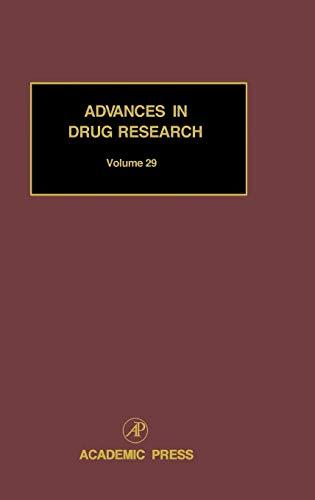9780120133291: Advances in Drug Research, Vol. 29