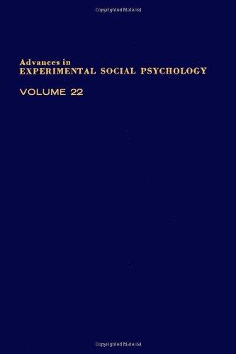 9780120152223: Advances in Experimental Social Psychology