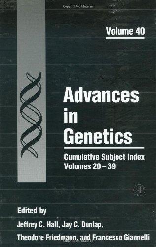 9780120176403: Cumulative Subject Index, Volumes 20-39, Volume 40 (Advances in Genetics)
