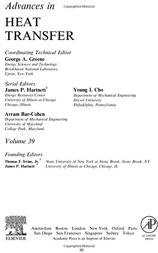 9780120200399: Advances in Heat Transfer, Volume 39