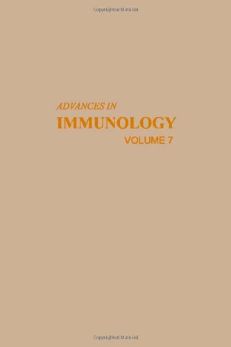 9780120224074: ADVANCES IN IMMUNOLOGY VOLUME 7, Volume 7 (v. 7)