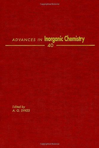 9780120236404: ADVANCES IN INORGANIC CHEMISTRY VOL 40, Volume 40