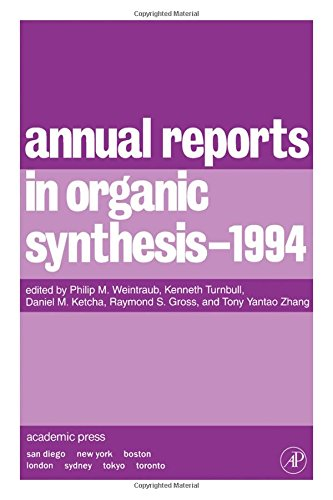 9780120408245: Annual Reports in Organic Synthesis 1994, Volume 94