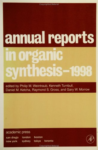 9780120408283: Annual Reports in Organic Synthesis 1998