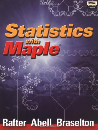 9780120415564: Statistics with Maple