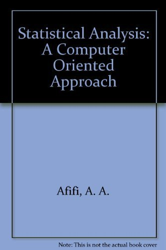 9780120444601: Statistical Analysis: A Computer Oriented Approach