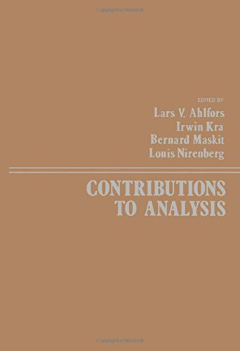 9780120448500: Contributions to Analysis. A Collection of Papers Dedicated to Lipman Bers