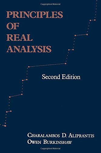 9780120502554: Principles of Real Analysis, Second Edition