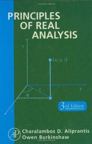 9780120502578: Principles of Real Analysis