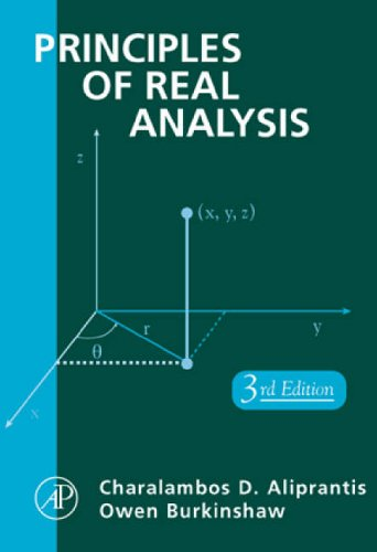 9780120502578: Principles of Real Analysis, Third Edition