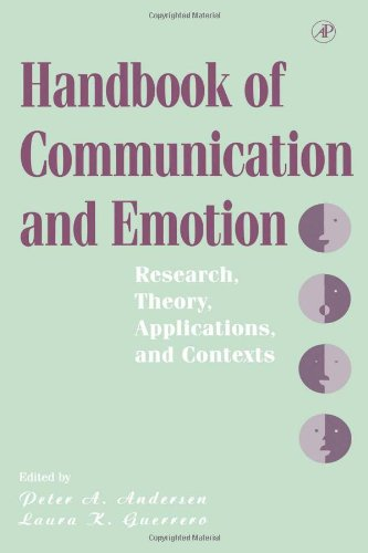 9780120577705: Handbook of Communication and Emotion: Research, Theory, Applications, and Contexts