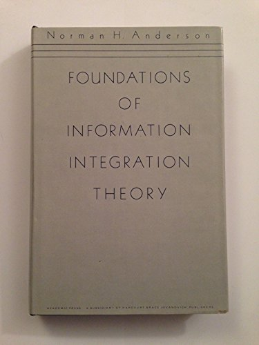 9780120581016: Foundations of Information Integration Theory