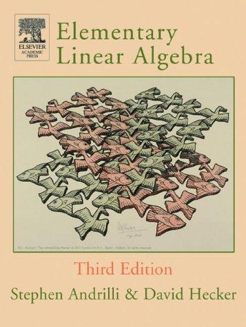 9780120586219: Elementary Linear Algebra