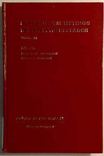 9780120586622: Experimental Methods in Catalytic Research: v. 3