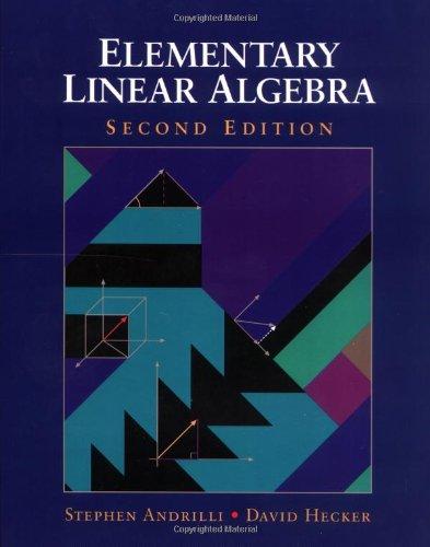 9780120586905: Elementary Linear Algebra, Second Edition