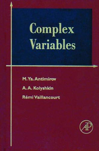 9780120595457: Complex Variables