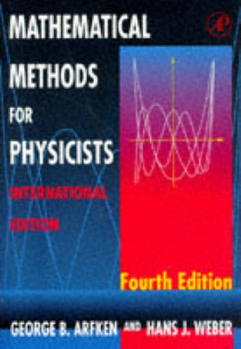 9780120598168: Mathematical Methods for Physics, International Edition, Fourth Edition