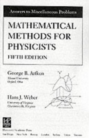 9780120598274: Mathematical Methods for Physicists Solutions Manual, 5th edition, Fifth Edition