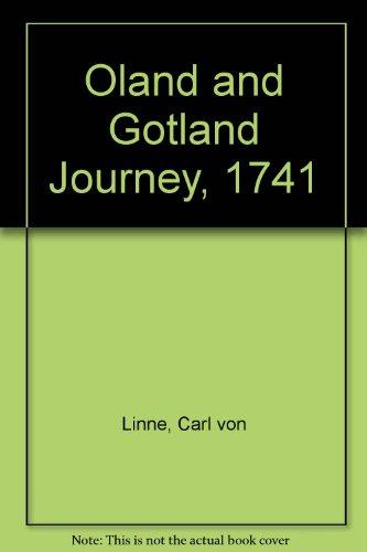 9780120647507: Oland and Gotland Journey, 1741