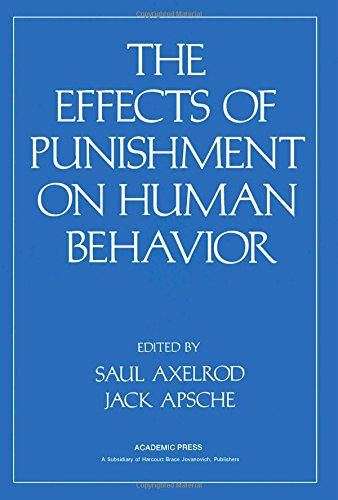 9780120687404: The Effects of Punishment on Human Behaviour