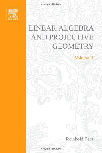 9780120722501: Linear Algebra and Projective Geometry