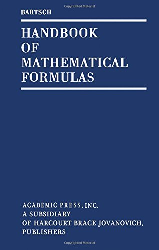 9780120800506: Handbook of Mathematical Formulas