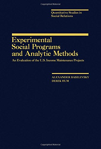 9780120802807: Experimental social programs and analytic methods: An evaluation of the U.S. income maintenance projects (Quantitative studies in social relations)