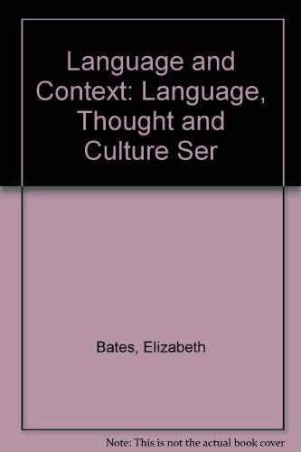 9780120815517: Language and Context (Language, Thought and Culture Ser)