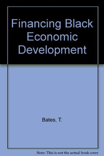 9780120816521: Financing Black Economic Development (Institute for Research on Poverty policy analysis series)
