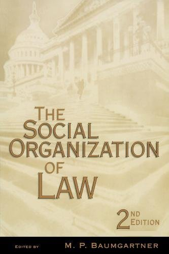 9780120831708: The Social Organization of Law, Second Edition