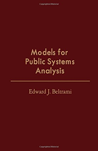 9780120855650: Models for Public Systems Analysis (Operations research and industrial engineering)
