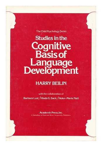 9780120856503: Studies in the Cognitive Basis of Language Development (Child psychology series)