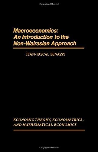 9780120864256: Macroeconomics: An Introduction to the Non-Walrasian Approach, Economic Theory, Econometrics and Mathematical Economics