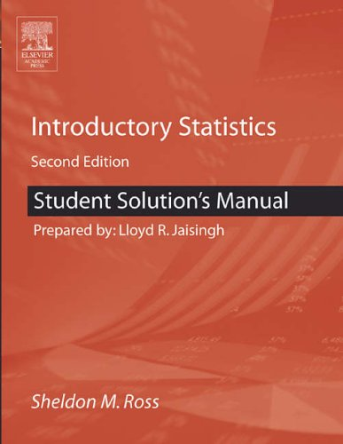 9780120885510: Student Solutions Manual for Introductory Statistics