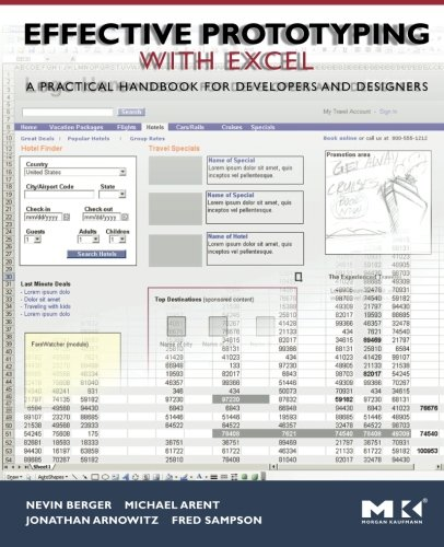 9780120885824: Effective Prototyping with Excel: A practical handbook for developers and designers (Interactive Technologies)
