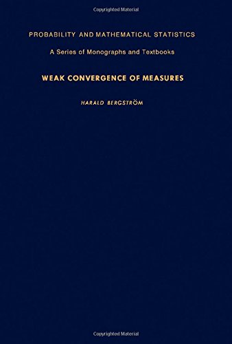 9780120910809: Weak Convergence of Measures (Probability and Mathematical Statistics)