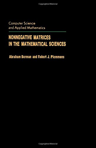 9780120922505: Nonnegative Matrices in the Mathematical Sciences (Computer science and applied mathematics)