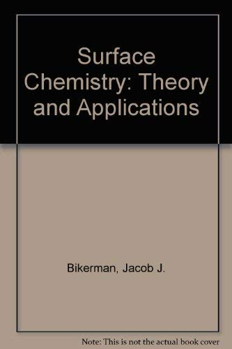9780120978564: Surface Chemistry; Theory and Applications