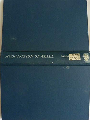 9780120991501: Acquisition of Skill