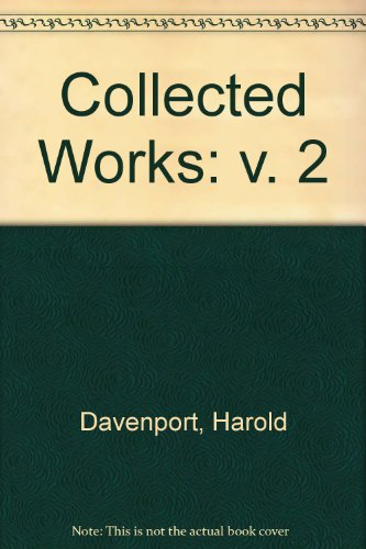 9780120993024: The Collected Works of Harold Davenport, 2