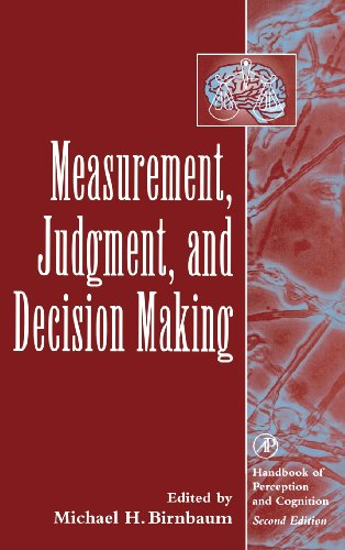 9780120999750: Measurement, Judgment, and Decision Making (Handbook of Perception and Cognition, Second Edition)