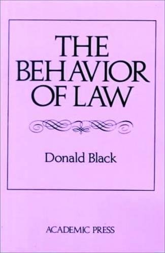 9780121026523: The Behavior of Law