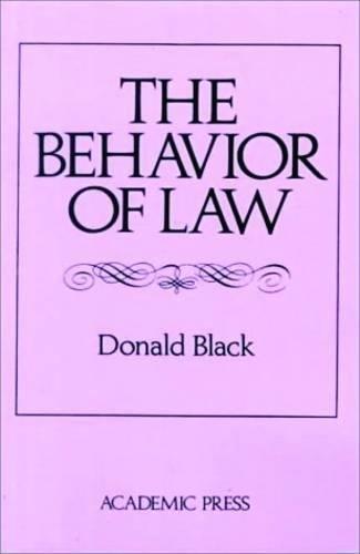 9780121026523: The Behavior of Law