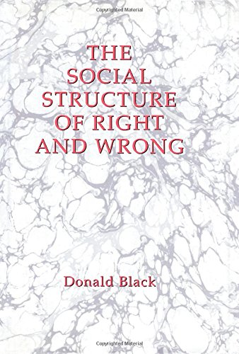 9780121028008: The Social Structure of Right and Wrong