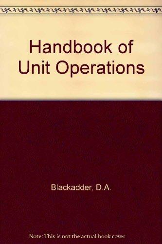 9780121029500: Handbook of Unit Operations