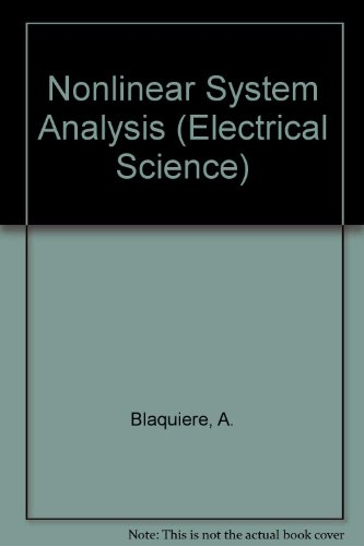 9780121043506: Nonlinear System Analysis (Electrical Science)