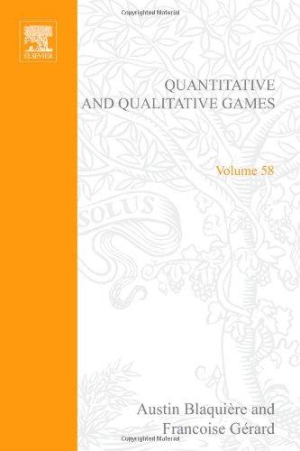 9780121043605: Quantitative and Qualitative Games (Mathematics in Science and Engineering)