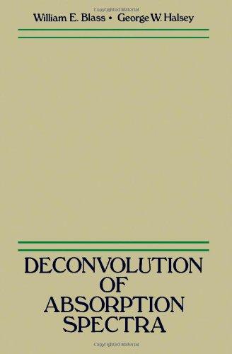 Deconvolution of Absorption Spectra: Deconvolution of Infrared: Blass, W. E.
