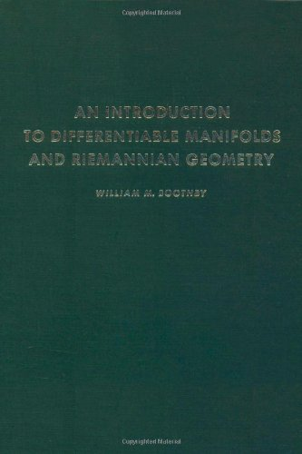9780121160500: Introduction to Differentiable Manifolds and Riemannian Geometry (Pure and applied mathematics, a series of monographs and textbooks)