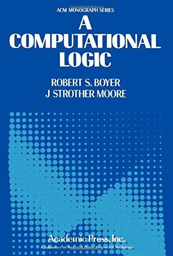 9780121229504: A Computational Logic